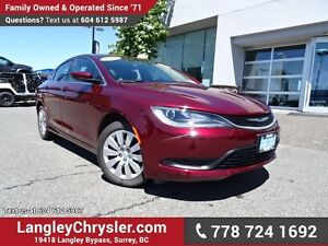 2016 Chrysler 200 LX W/ POWER WINDOWS/LOCKS, KEYLESS GO & A/C