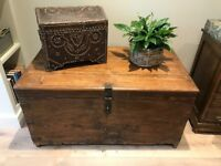 Antiqued Indian Storage Chest