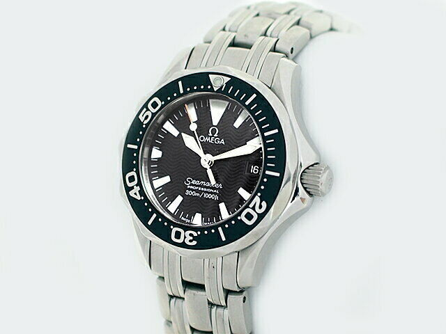 OMEGA Seamaster Professional 300M 2282.50 Black Dial Ladies Watch Excellent+++