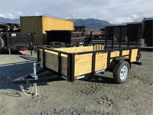 NEW 5'x10' TUBE TOP LANDSCAPE WOOD SIDE UTILITY TRAILER 2990LB