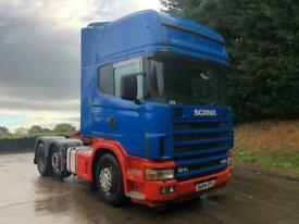 2004 04 Scania 124 420 Topline 6x2 tractor unit, manual, air con