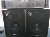 SKYTEC SL6 SPEAKERS AND SL400 AMP