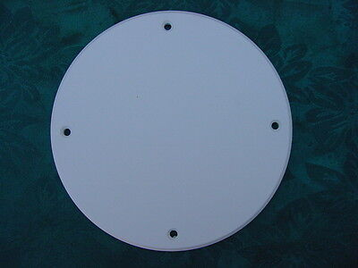 """SEA RAY INSPECTION ACCESS COVER PLATE ARCH DASH WHITE 6-1/2"""" SIZE 1/4"""" BOAT HEAD"""