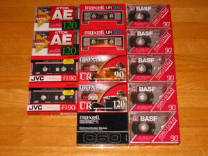 FS: 14 New Compact Audio Cassettes (Maxell, TDK, BASF) Type I