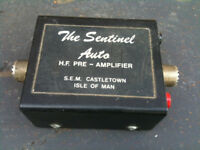 Sentinel Auto HF Pre Amp and set of long wire insulators