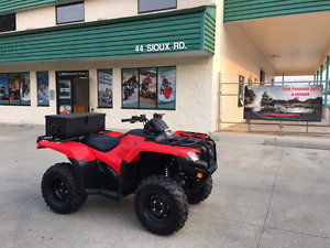 Next to new 2017 Honda 420cc Rancher 4x4 for only $69 bi-weekly!