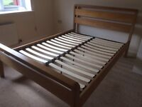 Solid wood and Vaneer Double Bed