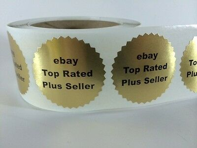 250 2 Ebay Tr Circle Labels Stickers Gold Seals Thank You Fragile New