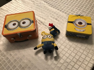 2 Lunch Boxs -Kids Despicable Me Minions  -Brand new