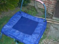 SMALL TRAMPOLINE WITH A HOLD ON SAFETY RAIL - CLACTON ON SEA - CO15 6AJ