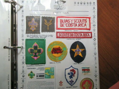 Costa Rica, 32 Boy Scout Patches, Ribbon Patch, Large Plastic Stick on  eb03