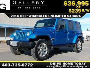 2014 Jeep Wrangler Unlimited $239 bi-weekly APPLY NOW DRIVE NOW