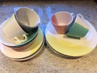 Dinner Set Multi Coloured VGC