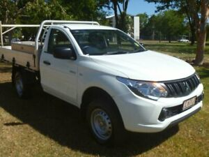 2017 Mitsubishi Triton MQ MY18 GLX 4x2 White 5 Speed Manual Cab Chassis Winnellie Darwin City Preview