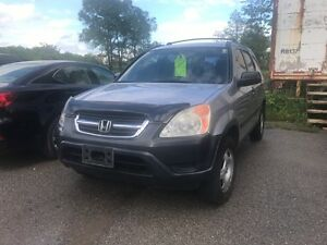 2004 Honda CRV LX 5 spd manual- No Accidents Carproof Clean