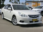 2011 Subaru Liberty B5 MY11 2.5i Lineartronic AWD White 6 Speed Constant Variable Sedan Condell Park Bankstown Area Preview