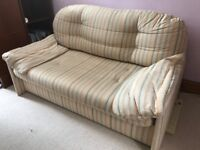 Comfy 2 seater Sofabed 1m40 wide with removable covers