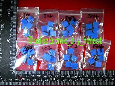40pcs 8 Values 3296 Variable Resistor Trimmer Potentiometer Assortment Kitsr201