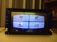 Brand new top of range SATNAV double din HD touchscreen car dvd player-Bluetooth with phonebook USB