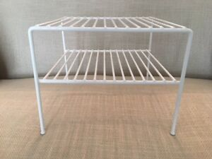 2-Tier Wire Cupboard Helper Shelves/Cabinet Organizers