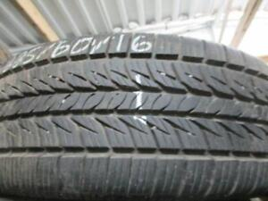 2 ONLY USED GENERAL A/S TIRES 225/60R16