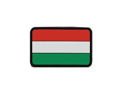 Patch Klett Ungarische Fahne  5,5cm x 3,5cm   Klett Aufnäher