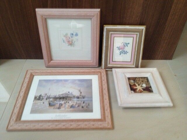 4 different pictures: Paddle Steamer, Shells & Floral. Collect from Fulham