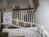 Stairlift with curve for sale.Manufactured by Savaria.