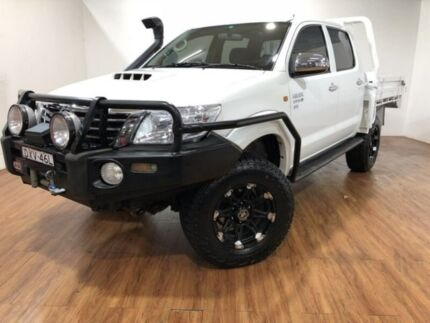 2012 Toyota Hilux KUN26R MY12 SR Double Cab White 5 Speed Manual Utility Kingsgrove Canterbury Area Preview