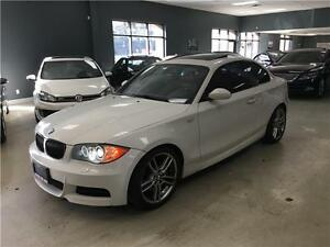 2009 BMW 1 Series 135i+M-SPORT PKG+WHITE ON RED++