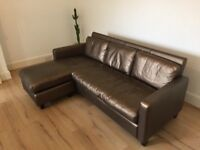 "Italian style leather 3 seater sofa - sadly must say ""Arrivederci"""