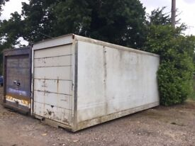 Ideal for storage, 18ft water tight box container, delivery arranged.