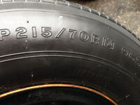 "215 70 14"" tires and steel rims Bridgestone"