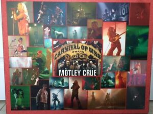 Motley Crue Mounted Poster (one of a kind)