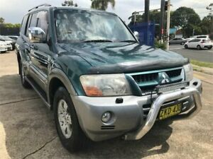 2003 Mitsubishi Pajero NP Exceed LWB (4x4) Green 5 Speed Auto Sports Mode Wagon Chester Hill Bankstown Area Preview