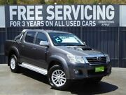2012 Toyota Hilux KUN26R MY12 SR5 Double Cab Grey 4 Speed Automatic Utility Reynella Morphett Vale Area Preview