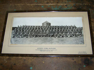 Vintage Canadian Military B&W Photograph QUEEN'S YORK RANGERS
