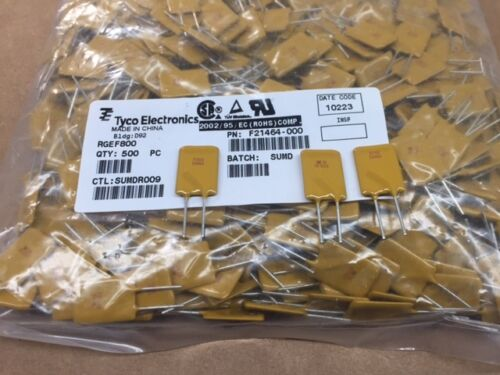 (25 pcs) RGEF800 Tyco, PTC Resettable Fuse, 8.0A HOLD 16V Ih, Radial Disc