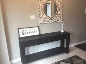 BRAND NEW - Black Vintage style Console Table