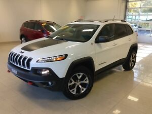 2015 Jeep Cherokee TRAILHAWK BLANC 4X4 GPS TOIT CUIR UCONNECT CA