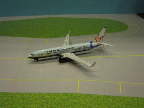 """PHOENIX MODEL VIRGIN BLUE """"HEAD TO QUEENSLAND"""" 737-800 1:400 SCALE DIECAST MODEL"""