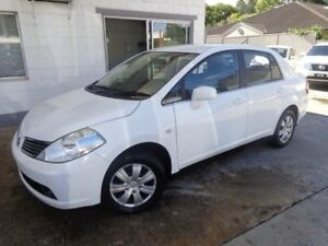 2009 Nissan Tiida C11 MY07 ST White 4 Speed Automatic Sedan Sylvania Sutherland Area Preview