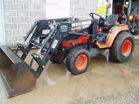 Used Kubota B2100 compact tractor with loader
