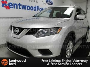 2015 Nissan Rogue S in shiny silver with a back up cam