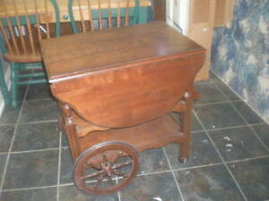 Solid Wooden Old English Tea Cart