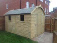 Garden Shed, new and Heavy Duty Tanalised Wood Dutch Barn, size 7ft x 5ft from just £658.00