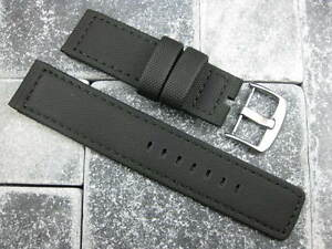 New-22mm-Black-PVC-Rubber-Diver-Strap-watch-Band-NAVITIMER-Maratac-22