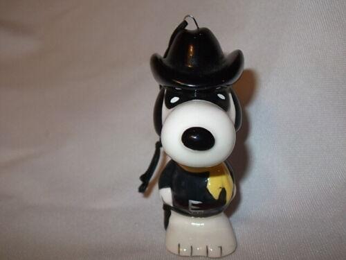 Vintage Peanuts Snoopy Masked Marvel Ceramic Christmas Ornament Cowboy
