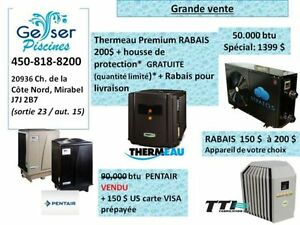 Thermopompe pour piscine, Liquidation / Surplus d'iinventaire!