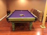 Palason Citadel 4.5 x 9 Pool Billiards Table - Made in Montreal